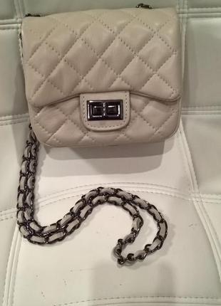 Нюдова сумка кроссбоді vera pelle italy   sale !!!!!