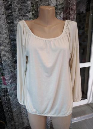 Блуза футболка длинный рукав
