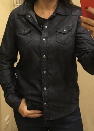 1+1=3 джинсовая рубашка next, m