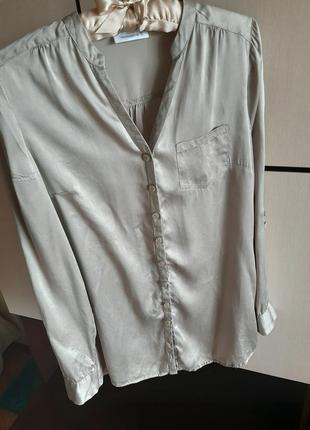 Шелковая рубашка блуза 100% шелк yessica