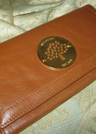Mulberry оригинал бомбезный кожаный кошелек состояние нового кожа шикарная