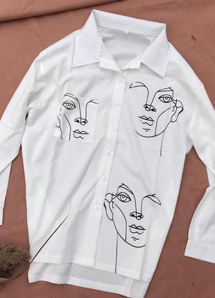 Фактурна крута сорочка з лицями