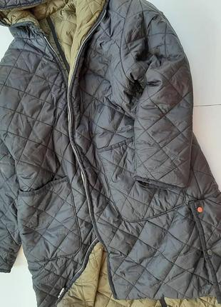 Zara двухстороннее демисезонное пальто