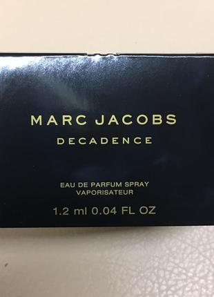 Пробник аромата marc jacobs decadence