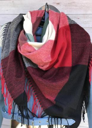 Кашемировый платок /палантин/шарф в клетку 👍