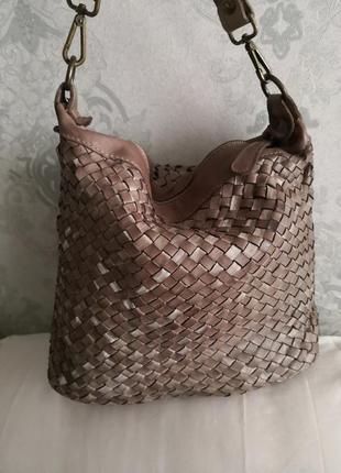 Стильная сумочка из плетеной кожи vera pelle, италия🏵️🏵️🦋🍂