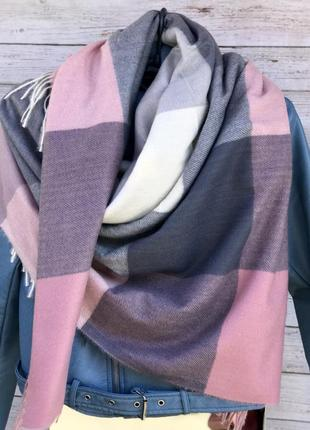 Кашемировый платок /шарф 😍клетка 💪🏻