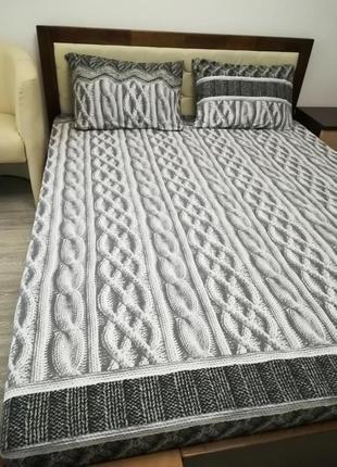 Мягкий двуспальный комплект постельного белья из фланели