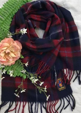 Кашемировый ♥️😎♥️ шарф в клетку из кашемира cashmere.