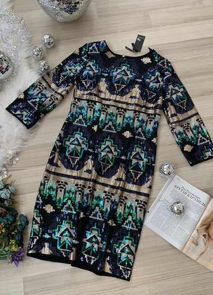 Платье на корпоратив нарядное платье сияющее tfnc london новое р м.м-с,м-ль