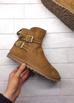 Ugg australia leni chestnut угги, оригинал, ботинки, сапоги кожаные утепленные