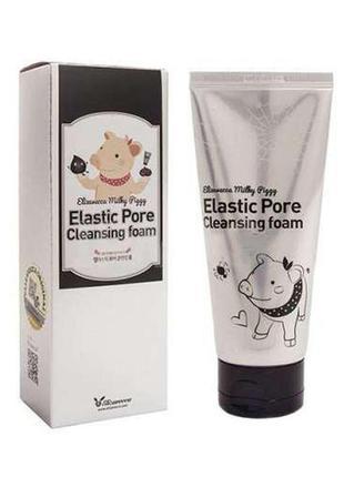 Пенка-маска для умывания 2 в 1 elizavecca elastic pore cleansing foam