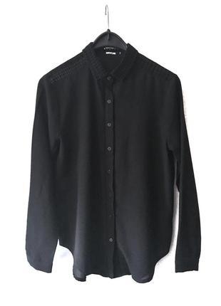 Идеальная классическая рубашка {блуза} с оригинальным воротником из франции sophyline