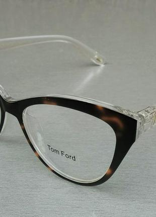 Tom ford очки женские имиджевые в тигрово прозрачной оправе