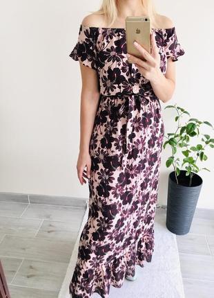 Макси платье с открытыми плечами atmosphere