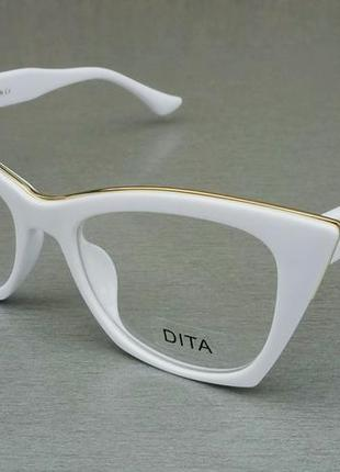 Dita очки женские имиджевые в белой оправе