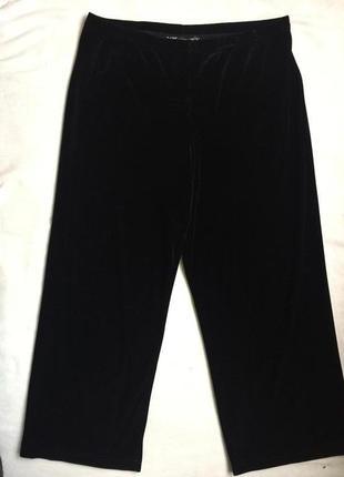 Шикарные велюровые домашние брюки 5xl (58)