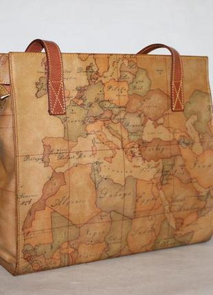 Alviero martini стильная вместительная сумка натуральная кожа+экокожа