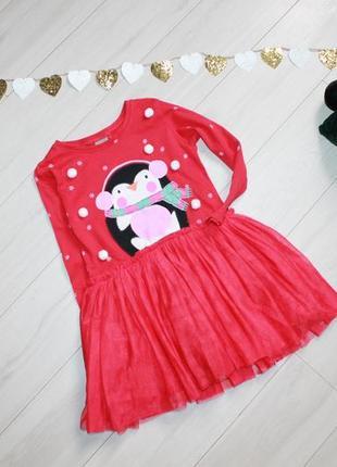 Платье новогоднее на 2-3 года next