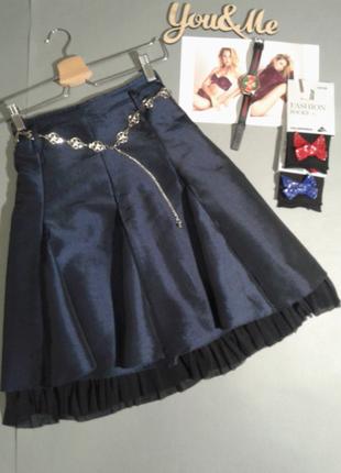 Красивая нарядная юбка с подьюбником, италия