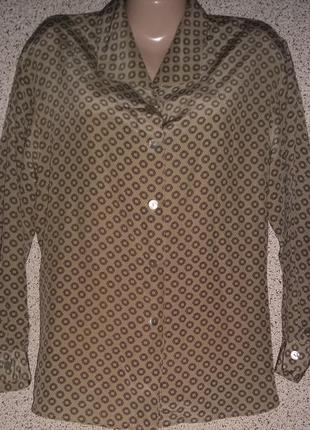 Шелковая рубашка шелк gabriella benelli.оригинал