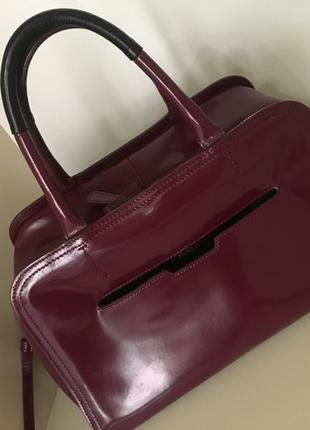 Кожаная сумка бренд furla 100%оригинал cумка бак цвет марсала rfurla винтаж