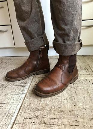 Челси timberland кожаные ботинки сапоги на молнии оксфорды полусапожки