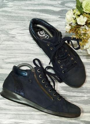 Ботинки кожа 38р темно синиц цвет