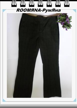 Стильные брюки зара укороченные клетка тренд 2019 осень-весна