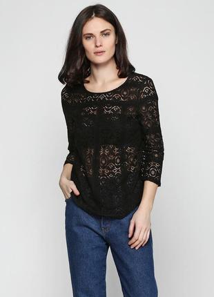 Ажурная черная блузка