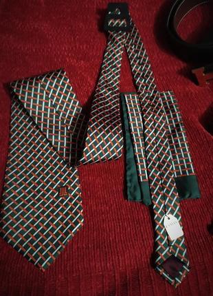 Винтажный шелковый галстук и платок