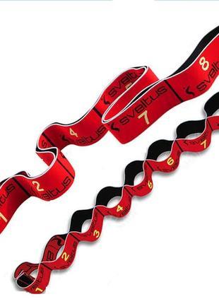 Резинка эспандер для растяжки пилатеса йоги фитнеса гимнастики черно-красная 10kg sveltus