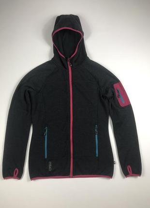 Mc kinley wool inside fleece women's full zip hoodie кофта с капюшоном худи шерсть