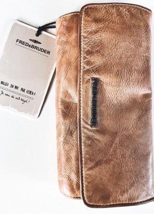 Кожа кожаный кошелёк портмоне бумажник fredsbruder