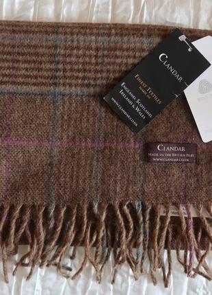 Шарф шерсть clandar шотландская клетка новый