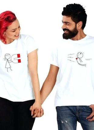 Парные футболочки набор с ручной росписью красками