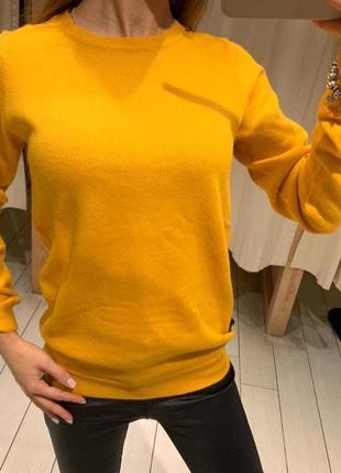 Горчичный свитер свитерок пуловер house есть размеры