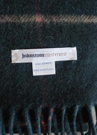 Шарф из кашемира известного шотландского бренда johnstons of elgin