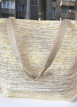 Сумка солом'яна, пляжная сумка