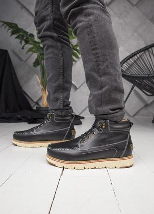 Теплые зимние мужские ботинки ugg в черном цвете (осень-зима-весна)😍