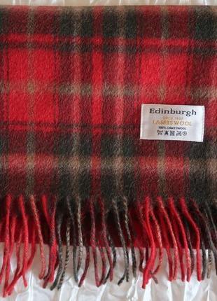 Шарф шерсть в шотландскую клетку edinbourgh
