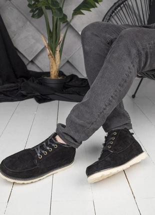 Теплые мужские зимние ботинки ugg в черном цвете (осень-зима-весна)😍