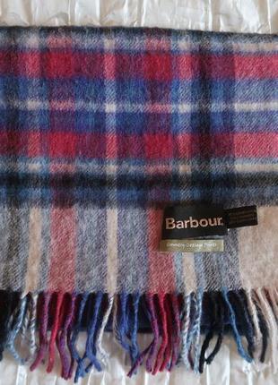 Шарф шерсть barbour шотландская клетка