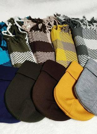 Шапка и шарф комплект теплый