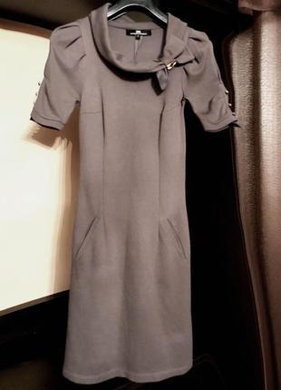 Котоновое платье джерси elisabetta franchi оригинал.