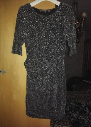 Скидки до -70%, до 20.11. элегантное нарядное платье, люрекс, от principles, р. m/l/xl