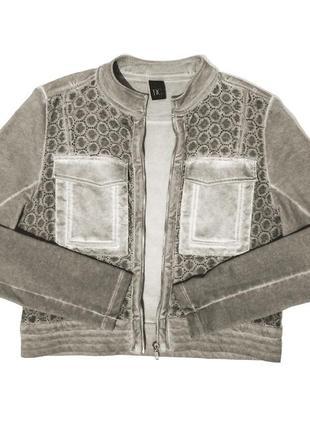 Женская короткая серая куртка топ курточка жакет пиджак немецкого бренда best connection