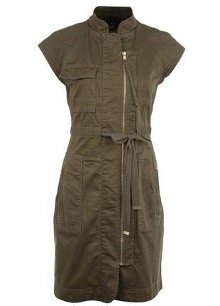 Брендовое платье хаки карго от marc jacobs