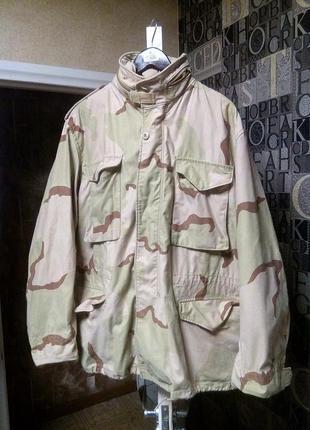 Куртка милитари тактическая m 65 3 color desert  cша us