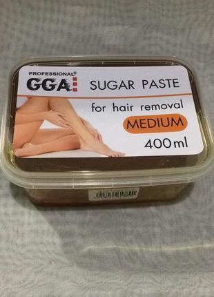 Паста для шугаринга средней жесткости gga professional sugar paste medium